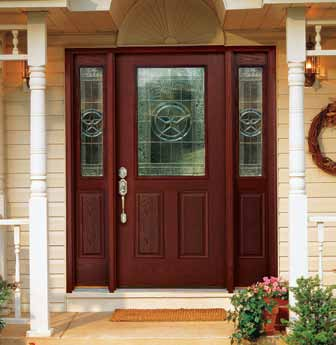 Star Half Lite door system u2013 Factory-finished in Mahogany with stained jambs & Where to buy exterior doors Lowes Menards or Home Depot?