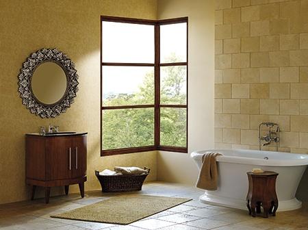 Marvin Corner window in bathroom