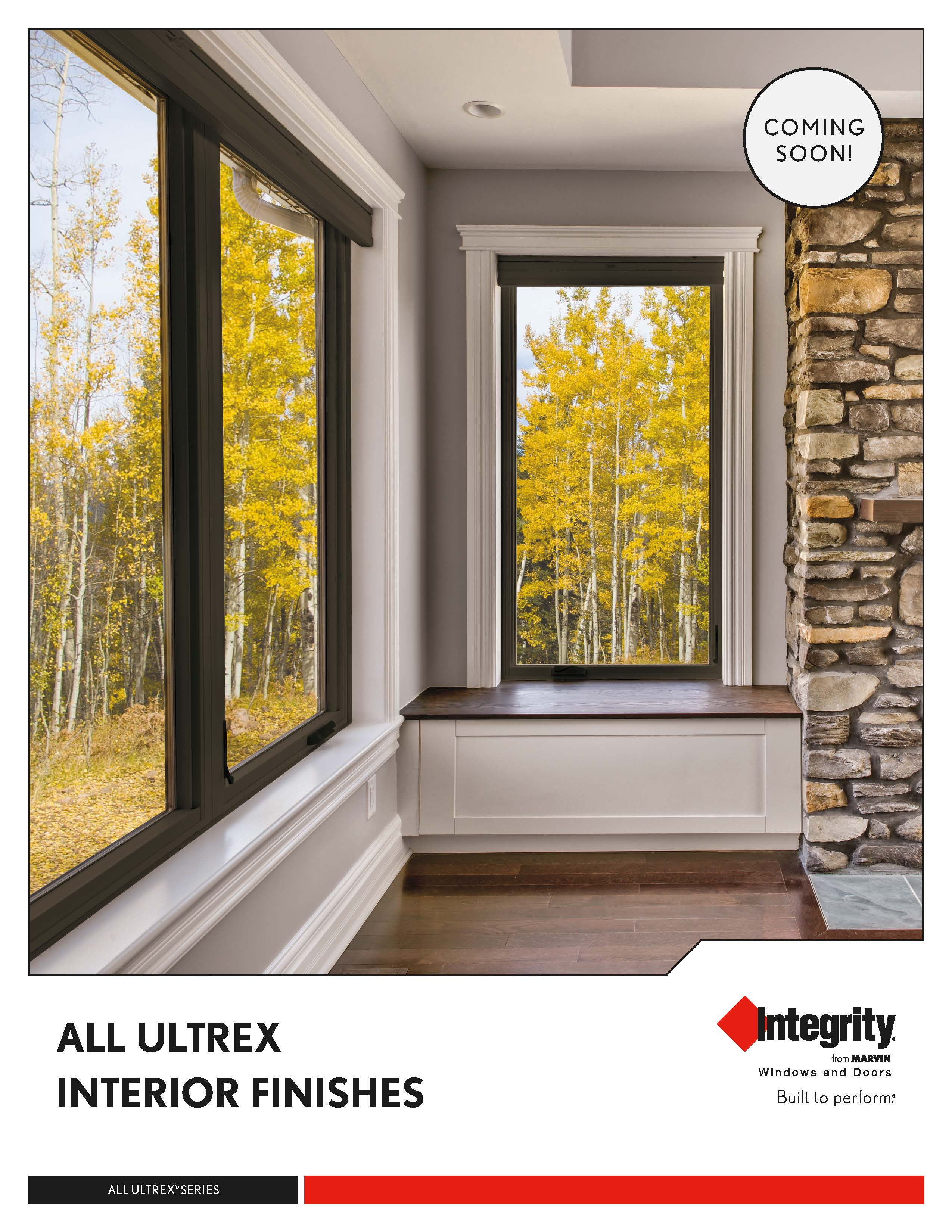 Integrity windows now have all black windows for Marvin all ultrex